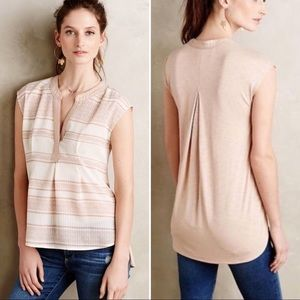 Anthropologie Postmark Egress Splitneck Tee Top
